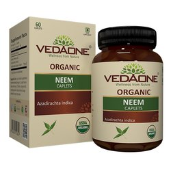 Neem 60 Caplets, As Directed By Physician, Packaging Type: Bottle