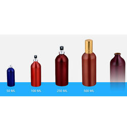 Aluminium Crimp Bottle With Pump