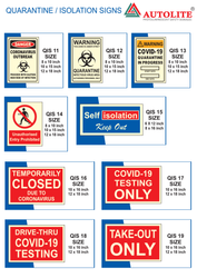 Vinyl PVC Reflective Quarantine / Isolation Signs, Usage: Hospital