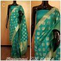 Printed Indian Ethnic Designer Party Wear Banarasi Silk Saree, With Blouse Piece