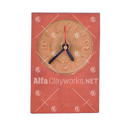 Terracotta Table Clock