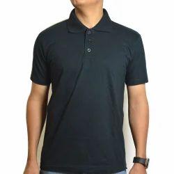 Plain Cotton Boys Polo Neck T-Shirt