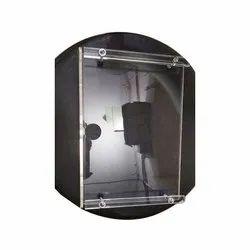 Acrylic Transparent Square Bathroom Wall Shelf, For Home, Size: Medium