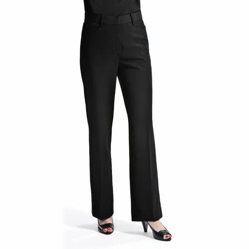 197f7a8f429 Lycra Cotton Plain Women' s Black Pant