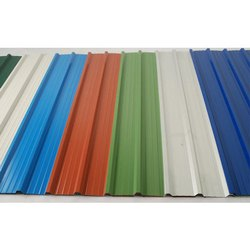 Color Coated Optional Bhushan Corrugated Roofing Sheet, Thickness Of Sheet: 0.45 Mm