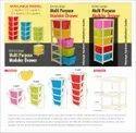 Atman 5 Xl Plastic Extra Large Multi-Purpose Modular Drawer Rack Foldable System Organizer