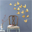 Printed PVC Butterfly Wall Sticker