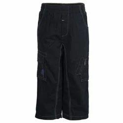 Cotton Kids Black Cargo Pants