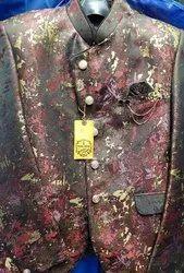 Western Texture Solid Blazer For Men
