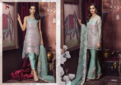 Party Wear Green Embroidered Pakistani Suit