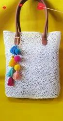 White Crochet net bag