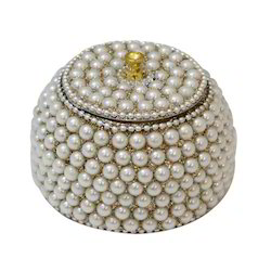 Pearl Studded Kumkum Box