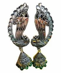 Earcuff Earrings With Jumka