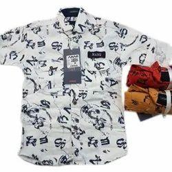 Regular Wear Cotton Kids Designer Printed Shirts, Packaging Type: Packet