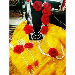 Red flower jewellery