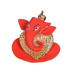 Resin mix gold & silver Ganesh god