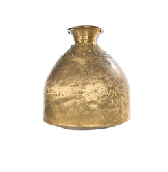 Gold Finish Flower Vase