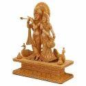 Radha Krishna Sandalwood Statue