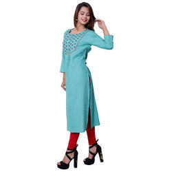 Cotton-embroidery kurti