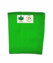 Hdpe Organic Vogue 350 Gsm 1st Quality Square Grow Bag, Green White