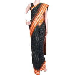 Pure Cotton Party Wear Cuttacki handloom Saree, 5.2 m (separate blouse piece)