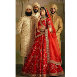 Wedding Designer Banaras Silk Lehenga