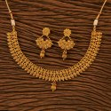 Brass Antique Delicate Necklace With Gold Plating 23143, Size: Regular Size And Adjustable