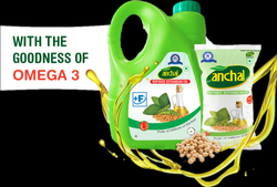 Anchal Refined Soyabean Oil 1 Ltr Pch., Packaging Type: Pouch