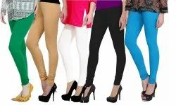 Viscose Churidar Attractive Woman's Leginggs Combo of 5 Piece, Size: XL, L