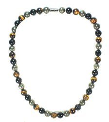 Gemstone Factory Mix Triple Protection Necklace - - Emf Protection Necklace