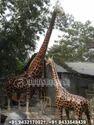 Fiberglass Giraffe Sculptures, For Exterior Decor