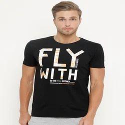 Masculino Latino Black Casual Wear Printed T Shirt