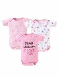 Babywish Baby Boy And Baby Girl Bodysuits Newborn Short Sleeve Rompers - Pack Of 3
