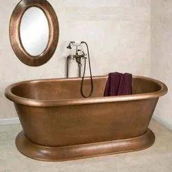 Copper Pedestal Tub Hammered Antique Look Interiors NJO-7505