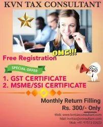 Tax Consultant GST & MSME/SSI CERTIFICATE, in tiruppur