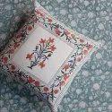 Cotton Cushion Cover, Floral Cushion Cover, 40 x 40 Cushion Cover