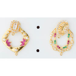 Small Zirconia Gold Earring