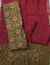 Cotton Unstitched Fancy Designer Suits