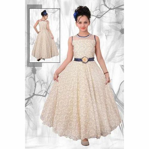 116021277 Cotton And Net Wedding Wear Kids Fancy Gown, Rs 500 /piece | ID ...