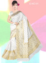 Nylon Silk Dyeable Saree