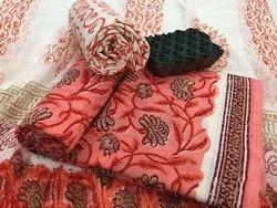 Cotton Casual Wear Bagru Print Salwar Suit Set