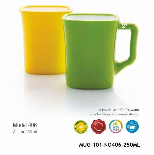 Plastics Coffee Mug-BPA Free-MUG-101, for Office
