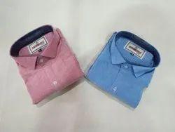 Button Casual Wear Mens Yarn Dyed Cotton Shirts, Machine Wash,Hand Wash