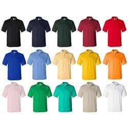 Cotton Polo Neck Mens Plain Polo T Shirts