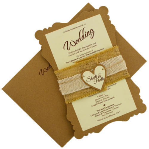 Personalized Wedding Invitations.Khaki Wedding And Birthday Personalized Wedding Invitation
