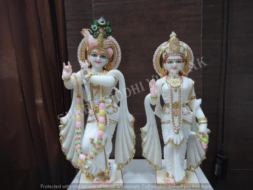 Religious Marble Statues Radha Krishna At Rs 18000 Pair