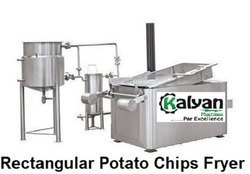 Rectangular Potato Chips Fryer