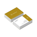 Yellow And White Business Visiting Cards, Packaging Type: Box