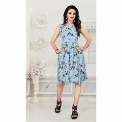 Ladies Digital Printed One Piece Dress
