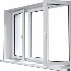 White UPVC Combination Window, Thickness Of Glass: 3-5 Mm